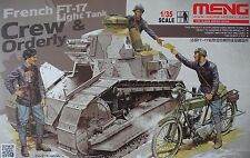 Hs005 1/35 Meng French Ft-17 Tank Crew And Orderly