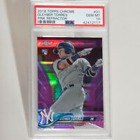 2018 Topps Chrome Pink Refractor Gleyber Torres Yankees Rookie RC #31 PSA 10
