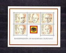 ALLEMAGNE Germany Bloc Feuillet Yvert N° 17 Neuf Luxe XX Présidents allemands
