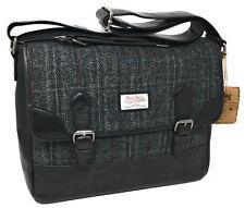 Harris Tweed Grey Tartan Satchel Briefcase