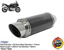 Universal Motorrad Auspuff Schalldämpfer Carbon für Kawasaki Suzuki 170261