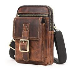 Men's Italian Leather Waist Belt Bag Fanny Pack Pouch Sling Tote Shoulder Bags