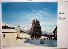 ✅ cartolina 1970 PASCHE Paesaggio di montagna con neve Buon Natale 843