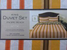 3 pc Pacific Beach King Duvet Cover & Shams Set NIP