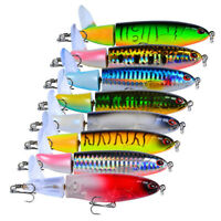 Fishing Lure Artificial Bait Hard Plopper Soft Rotating Tail Fishing Tackle NTAT