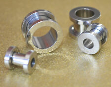 316L Stainless Steel Screw Cap Ear Flesh Tunnel *VARIOUS SIZES AVAILABLE*