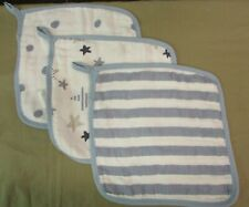 Aden + Anais Washcloths 3pk - Rock Star Funny Dot - Spot - Blazer Stripe