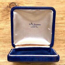 Ontario CA Antique Velvet Jewelry Presentation Box Necklace Pin Display VTG Blue
