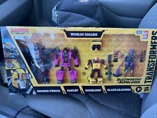 Transformers BUZZWORTHY WORLDS COLLIDE 4 Pack Nemesis Primal War For Cybertron