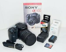 SONY ALPHA A100 DSLR CAMERA EXCELLENT CONDITION w/28-200 lens