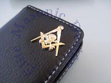 New3D Skull Masonic Master Mason Business Card or Dues Card Holder. Gold.