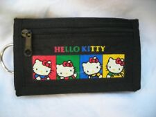 Nwot! Sanrio 1988 Japan Hello Kitty Black Keychain Key Ring Wallet Rare