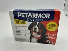 PetArmor Plus Dog F 00006000 lea and Tick Squeeze Treatment Xl Dogs 89-132 Lbs 6 Tubes