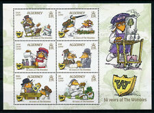 Alderney 2018 MNH The Wombles 50 Years 6v M/S Literature Cartoons Stamps