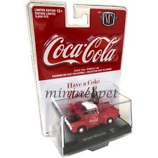 M2 MACHINES 52500 COCA COLA 1956 FORD F-100 PICK UP TRUCK 1/64 RED WHITE R CARD