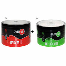 MAXELL 50Pk DVD+R / DVD-R Blank Recordable Disc DVDR 4.7GB 16x SPEED 1Pk Of Each