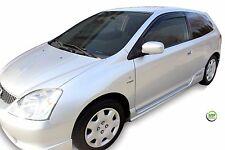 HONDA Civic mk7 SPORT 3-Door 2001-2005 Set di Deflettori vento anteriore 2pc HEKO