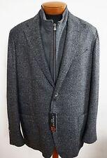 $1695 NWT CORNELIANI Gray VIRGIN WOOL & CASHMERE ID Blazer Jacket EU-60R 2XL
