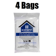 (4) Kirby Micron Magic Universal Filtration Vacuum Bags  204811 205811 GENUINE