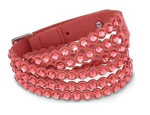 Swarovski Slake Power Collection Wraparound Bracelet, Red Large M 15 11/16in