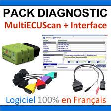 Pack de diagnostic OBDLINK LX BLUETOOTH + MultiECUScan Officiel + Adaptateurs