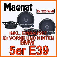 BMW 5er E39 - Lautsprecher - MAGNAT BOXEN Komplettset VORNE+HINTEN NEUWARE