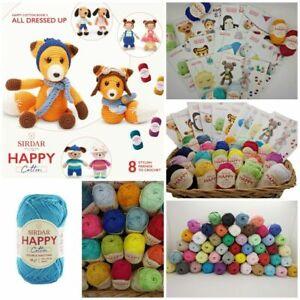 Sirdar Happy DK Double Knit 100% Cotton Amigurumi Craft Crochet Yarn 20g Balls