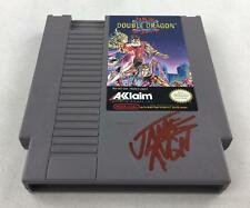 Nintendo (NES) Double Dragon II AVGN James Rolfe Red Autograph Cart