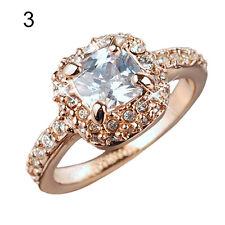 Womens Bridal New Glaring Wedding Engagement Party Shiny Rhinestone Alloy Ring