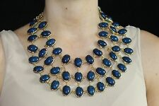 Amrita Singh Reversible Bib Necklace Turquoise And Lapis - Cleopatra Style!