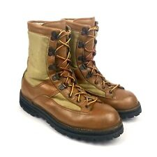 Vintage DANNER | Camel Tan Leather + Canvas Lace Up GoreTex Field Boot | Mens 7