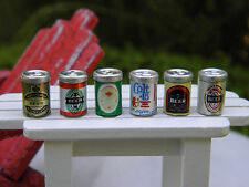 Miniature Dollhouse FAIRY GARDEN Accessories ~ 6 Assorted Cans of Beer ~ NEW