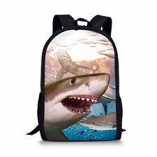 Cool Shark Sea Boys Girls School Bags Kids Backpack Shoulder Laptop Satchel Gift
