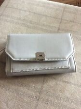 BNWT GREY ACCESSORIZE FERNE FAUX SUEDE AND LEATHER COIN PURSE