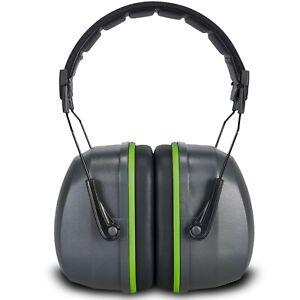Premium Adult Ear Defenders – SNR 34db Noise Reduction Earmuffs – Soft Foam EAR