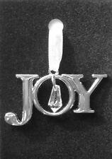 Crystal Christmas Tree Decoration, Joy, Silver Tone Metal & Acrylic Xmas Bauble