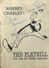 Ray Bolger Signed WHERE'S CHARLEY Broadway Playbill RARE! Wizard Of Oz