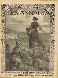 Les annales n°1763 du 08/04/1917 Semeuse Péronne Noyon Geo Conrad