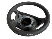 Genuine grigio scuro in pelle Volante Copertura adatta (2012 +) Dacia Logan Mk2 Nuovo