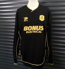 Hull City 2006 07 Away Football Shirt Black Men's L Patrick Bonus Electrical LS