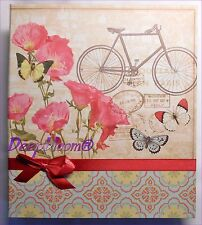 PHOTO ALBUM STORAGE HOLDS 180 4 X 6 PHOTOS - BUTTERFLY BIKE ... NEW