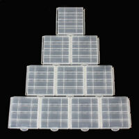 10PC Hard Plastic Battery Storage Case Box Organizer Holder for AA AAA Batteries