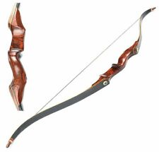 40lbs Archery Takedown Recurve Bow 58inch Wood Longbow Shooting Practice