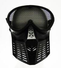 Maschera Tactical  Metallo Face Rete Nera Royal