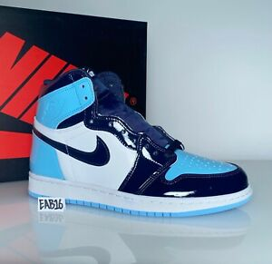 Nike Air Jordan 1 OG High UNC Womens Patent Leather CD0461 401 Obsidian Blue