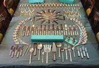 RARE Tiffany Century Sterling Silver Flatware 173 Piece Silverware Set For 12