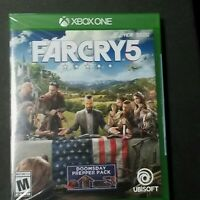 Far Cry 5 Microsoft Xbox One Brand New Factory Sealed With Doomsday Prepper DLC