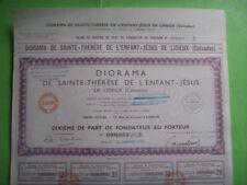 diorama de Sainte Therese de l'enfant Jésus de Lisieux No 53/5 16 01 1950