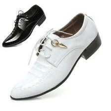 Men's Flats Formal Dress Wedding Office Leather Shoes Glossy Oxfords Pointed Toe