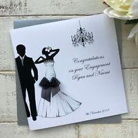 Handmade Personalised Engagement Card Son Daughter Granddaughter Grandson